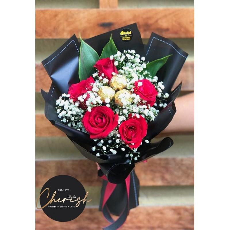 CB02- Chocolate Roses Bouquet