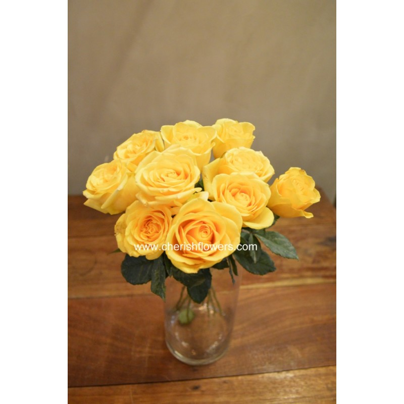 LF06 - Yellow Rose (10 stalks)