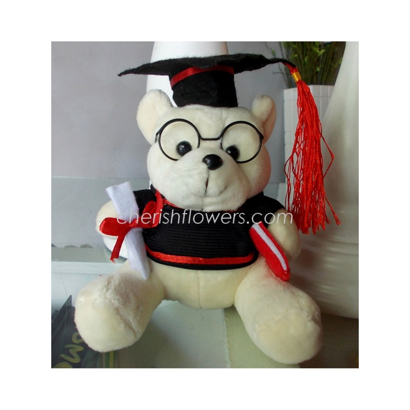 AOT23 - Graduation Bear with Spec (White/Brown)