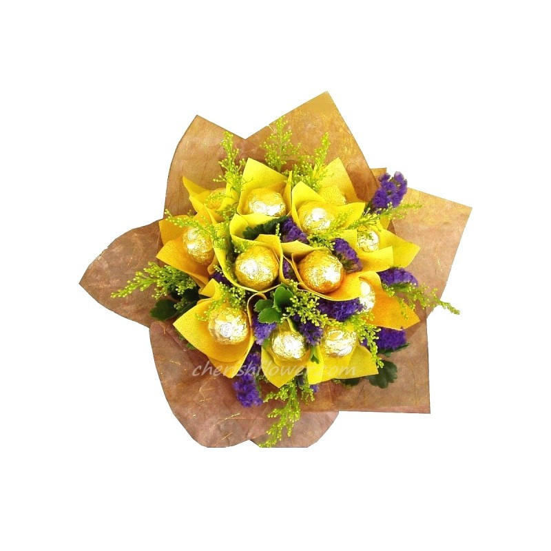 CB16 - 12 Choc Yellow Bouquet