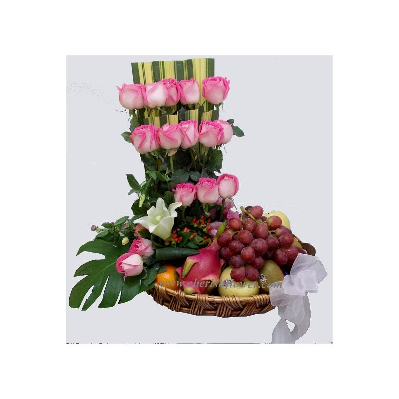 FF22 - Roses Fruits Tray