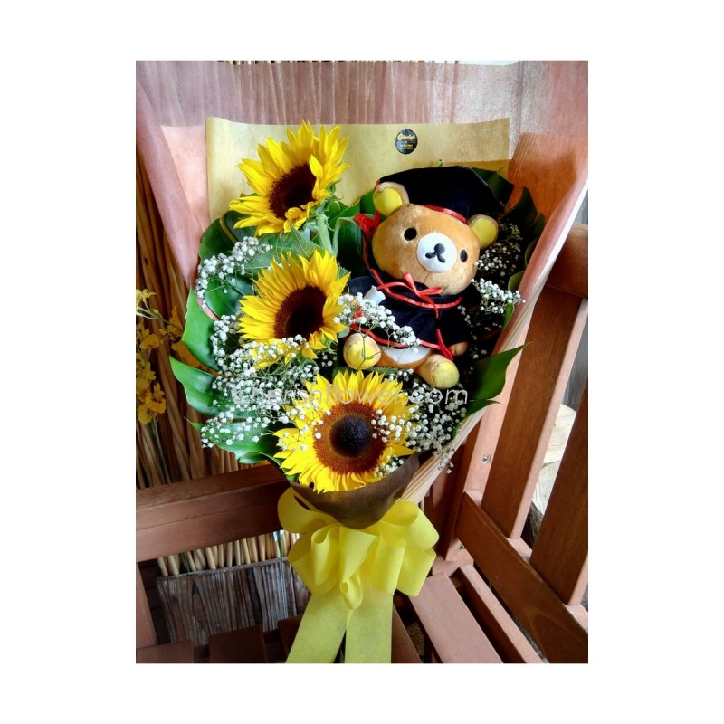 GB05 - Sunflower Grad Bouquet