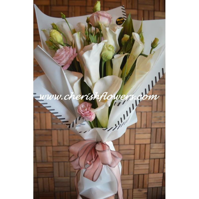 HB15 - Calla Lilies Bouquet