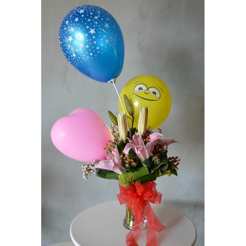 NBB08 - Flowers & Balloon