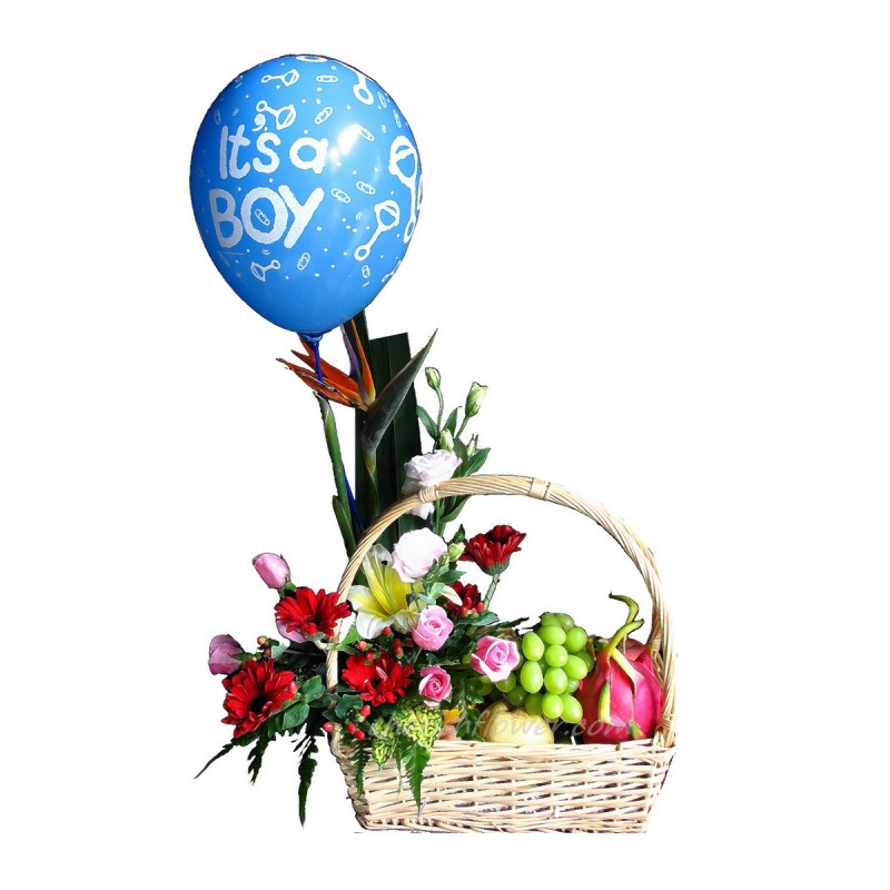 NBB01 - Baby Boy Bouquet