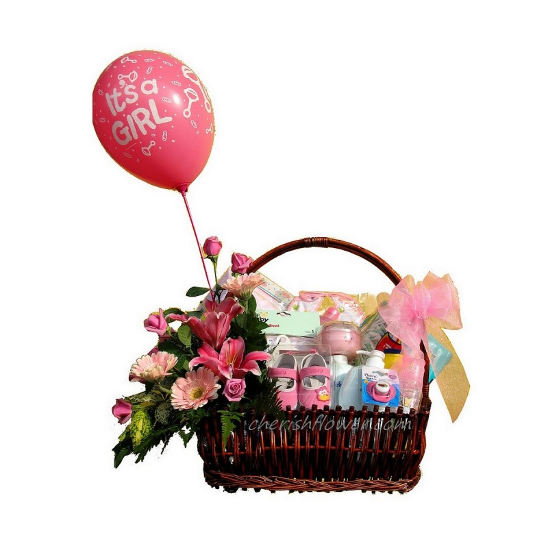 NBB12 - Baby Hamper & Flowers