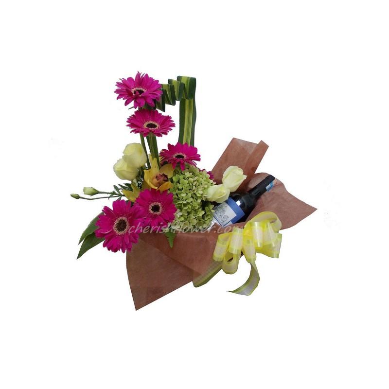 W03 - Wine & Flowers